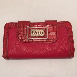 Lulu by Lulu Guinness Red Wallet Clutch Bag